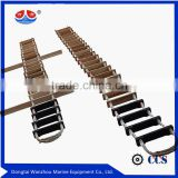 emergency rope ladder/ marine Pilot's Rope Ladder /Wood Ships Ladder                                                                         Quality Choice