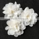 Handmade Decorative Off White Fabric Flower For Wedding,Generous Chiffon Flower For wedding dresses