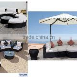 Wicker outdoor furniture Rattan corner sofa furniture /ratan garden furniture sectional sofa FCO-2059