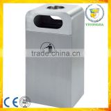 Eco-friedly square rubbish bin outdoor dustbin recycle rubbish barrel                                                                                                         Supplier's Choice