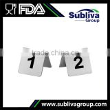 Double Sign Table Number Holders Stainless Steel Display Stand                                                                         Quality Choice