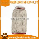 M98 new 2016 beige thick cable knitted pet sweater