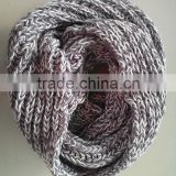 Fashion Popular Mixed Color Soft Chunky Acrylic Knitting Thick Neck Warmer Round Scarf
