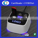 combo usb charger with 3 usb ports & card reader                                                                                                         Supplier's Choice