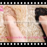 hot sale lady attractive designs sexy low cut invisible women lace socks