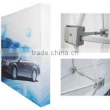 Flat fabric pop up display stand in aluminum