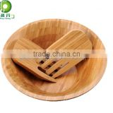wooden serving board dishes and plates round
