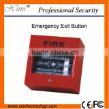 Emergency switch exit button door release glass break alarm button for access control system E01