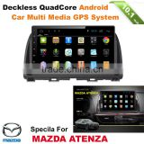 A9 quad cord ORIGINAL OEM 2 DIN Android car radio gps for MAZDA ATENZA with wifi,bluetooth,16g inand FREE IGO MAP