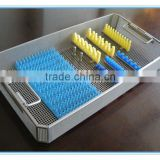 Stainless steel surgical instrument trays for washing sterilizing storing transporting Y314
