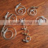 French hose clamp/double wire spring clip