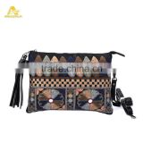 Exclusive Bohemian Envelope Clutch Ethnic Handmade Embroidery Clutch BOHO Hippie Gypsy Purses