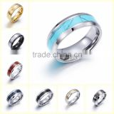 wholesale custom men women stainless steel couples engagement wedding rings