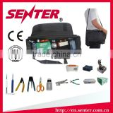 FTTH fiber optic tool kits outdoor fiber optic termination box ST3900 with optical power meter/laser source/VFL