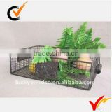 Metal mesh iron wire basket in rectangle