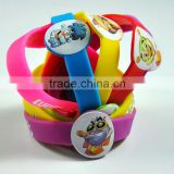 Color printing silicone bracelets for kids, silicone wristbands, children's bracelet