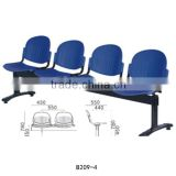 Popular used seating room furniture Barber shop waiting chairs Plastic chair for sale B209-4