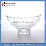 LongRun alibaba china fruit glass dishes oval shape chiese tableware glassware wholesale