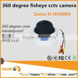 "360 degree panoramic view vandalproof indoor cctv dome camera 700TVL, compact, 1/3"" Sony Super HAD II CCD"
