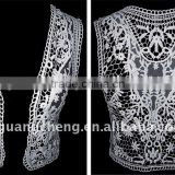 polished cotton clothes embroidery beaded lace motif