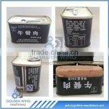 2-piece Rectangular Tin Can for Lucheon Meat Tin Box with pull-tab Making/Production Line