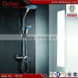 bathroom rain shower set, big round/square plastic shower head, chrome plating surface brass shower set