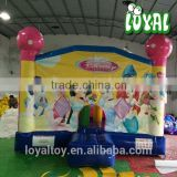 2016 Hot inflatables for kids,0.5mm PVC horse bouncer, commercial jumping castle with slide