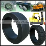 The lowest price best quality solid rubber tires press on solid tire for trailers 21x7x15