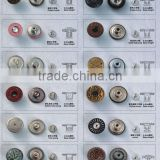 KMJ-2121 metal jeans snap buttons with classical design,high quality clothes sanp button