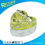 premium quality heart-shaped custom tooth keepsake tooth box for baby