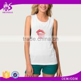 Guangzhou Shandao OEM Wholesale Casual Summer 95% Cotton 5% Spandex Breathable Bulk Quick Dry Fitness Women White Tank Tops
