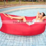 Outdoor Indoor Banana shape air Inflatable Waterproof Sofa/sleeping bag/lounger with headrest