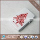 Sublimation Custom Printed White Metal Lighter