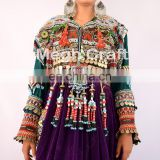 Afghan Traditional Belly dance costume Dress - tribal handmade Kuchi dress-afghanistan Kuchi Ethnic Purple Tribal dress