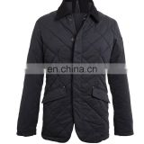 wholesale quilted jackets - hot sale men stylish motorbike genuine leather quilted shoulder bomber jacket