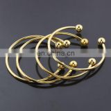 European Jewelry wholesale gold plated cuff bangle bracelet with screw end