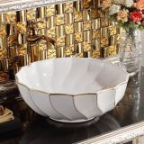 High-grade ceramic wash basin round shape unique bathroom basin