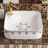 New decal colorful china ceramic art thin art basin