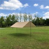 Lightweight Tarp 3X3M Rain Shelter khaki Color Sun Shade For Outdoor Backpacking