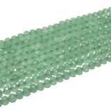 Wholesale gemstone beads coin faceted Green Aventurine natural stone beads for jewelry making