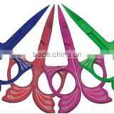 Pink Straight Scissors Manicure Pamper Nail Care Beauty Travel Blade for Girls