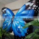 Attractive high stage decor inflatable butterfly inflatable coloful butterfly wings for event decoration