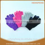 Cheap fashional women winter gloves with flower customized touch screen gloves,acrylic touch gloves