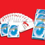 supply transparent 100% pvc playing card/super clear game cards