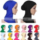 Fashion Women Ladies Cotton Muslim Inner Hijab Caps Hats Islamic Under Hijab Scarf