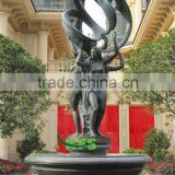 Bronze lady fountain for garden decoration