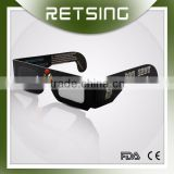 Custom logo wholesale 3d anaglyph paper glasses cardboard linear polarized 3d glasses