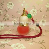 5ml mini cylinder shape Hanging empty car perfume bottle with pendant decoration