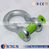 green pin sling bow shackle