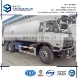 Nigeria market 10mt LPG propane cooking gas bobtail tanker truck Hot sale nigeria lpg dispensing trucks